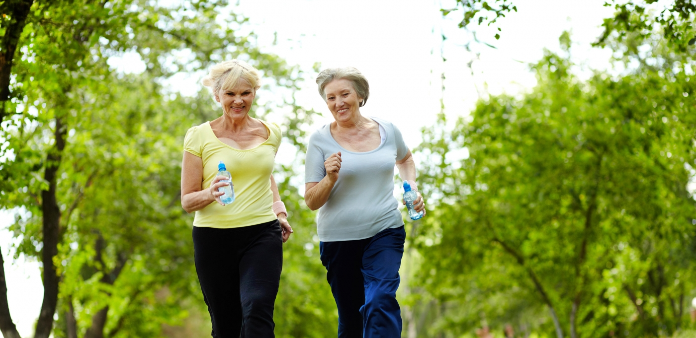 Rockwood Retirement Communities Spokane Elderly Women Taking a Jog In a Park